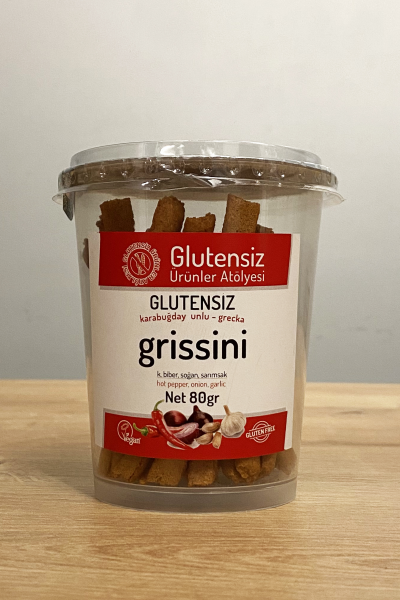 Glutensiz Ürünler Atölyesi Çeşnili Grissini 70 Gr.