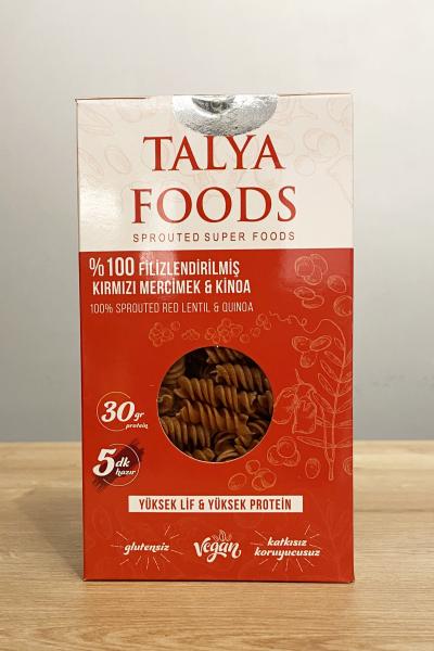 Talya Foods %100 Filizlendirilmiş Kırmızı Mercimek Ve Kinoa Makarna 200 Gr.